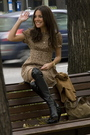 Beige-the-music-collection-dress-black-bimba-lola-boots-brown-vintage-jack