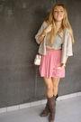 Pink-zara-skirt-brown-zara-boots-beige-h-m-belt-silver-purificacion-garcia