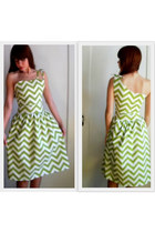 Chartreuse-dress
