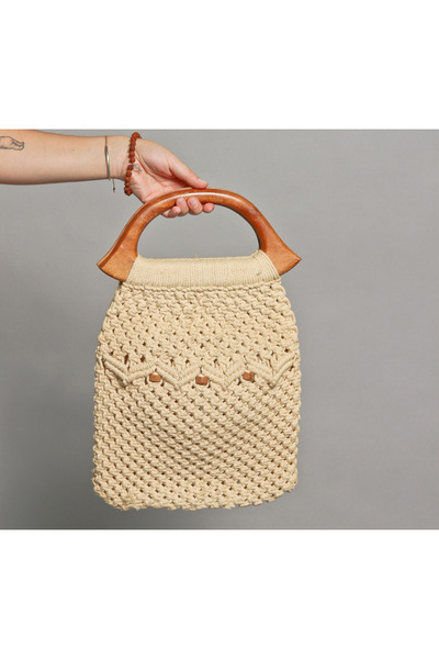 Crochet Wood Bags