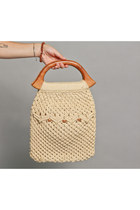 crochet wood bag