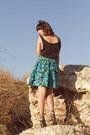 Floral-skort-vintage-shorts