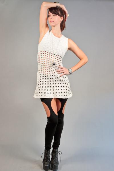 70s crochet vintage dress