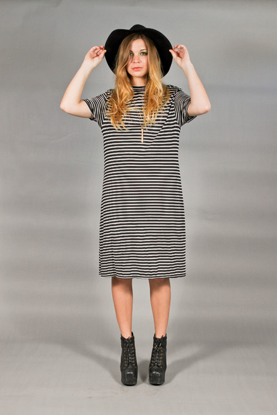 striped slinky Old Navy dress