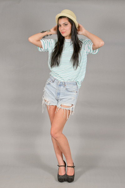 mint stripes t-shirt