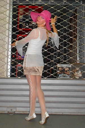 white chic lace LEVANTE CALZEFrom italy tights - hot pink romantic Zara hat