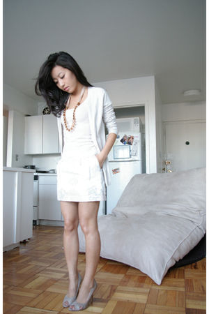 JCrew cardigan - Gap Kids Jacquard Skirt skirt - Aldo shoes - JCrew necklace