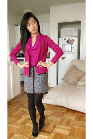 JCrew cardigan - H&M Trend skirt - banana republic blouse - Aldo Arnoldoa shoes