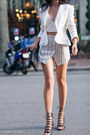 White-ralph-lauren-jacket-white-asos-shorts-white-line-dot-bra