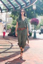 brown Ralph Lauren belt - light brown Clare Vivier bag - black Gucci sandals