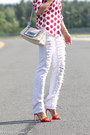 White-eachxother-jeans-red-burberry-prorsum-shirt-white-chanel-bag