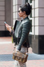 Tan-sam-edelman-boots-dark-green-celine-jacket-gold-chanel-bag
