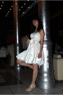 Ivory-dress-eggshell-shoes-tan-stockings-accessories
