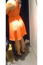 Carrot-orange-stradivarius-dress