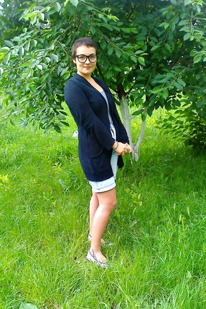 black Lefties blazer - light blue unknown shorts