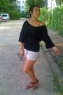 Zara-shorts-romwe-blouse-lefties-sandals
