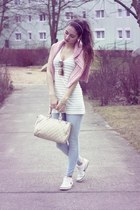 pink H&M sweater - light blue Pimkie jeans - cream H&M top