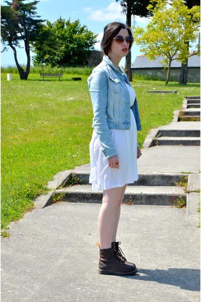 Dr Martens boots - H&M dress - Stradivarius jacket - romwe sunglasses