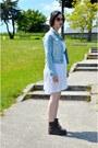 Dr-martens-boots-h-m-dress-stradivarius-jacket-romwe-sunglasses