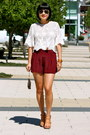Nude-heels-pour-la-victoire-shoes-red-silk-club-monaco-shorts