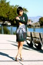 Silk-clover-canyon-dress-silver-aviator-ray-ban-sunglasses-sam-edelman-heels