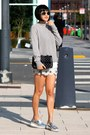 Silver-zara-shoes-grey-club-monaco-sweater-white-tularosa-shorts