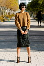 Brown-zara-sweater-chanel-bag-faux-leather-zara-skirt