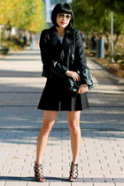 Club Monaco jacket - white Club Monaco t-shirt - black Club Monaco skirt