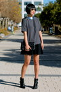 Black-tibi-boots-grey-club-monaco-shirt-chanel-bag