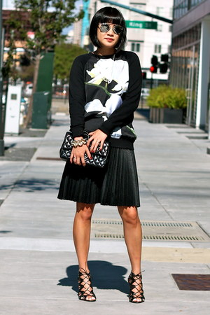 black Altuzarra x Target sweater - black Chanel bag - sunglasses
