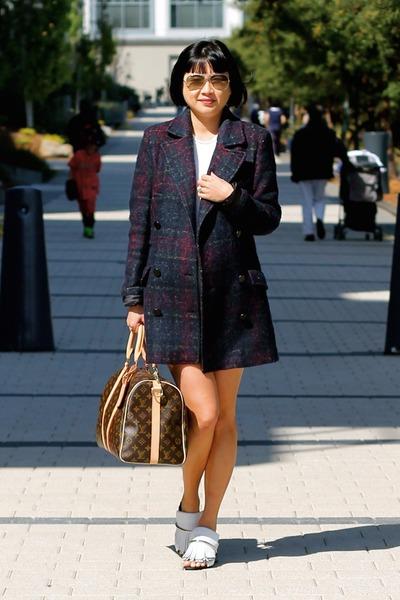PROENZA SCHOULER shoes - Aritzia dress - Zara coat - Louis Vuitton bag