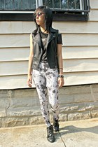 tie dye vintage leggings - sheer PacSun top