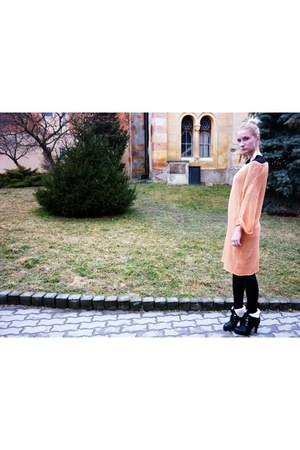orange lindex dress - light orange asos earrings