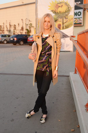 New Yorker coat - Topshop flats - Bershka pants - lindex bracelet