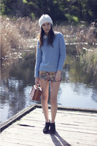 printed Ally Fashion shorts - light blue Dotti jumper