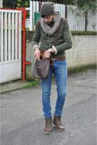 Bershka jeans - Bershka hat - H&M sweater