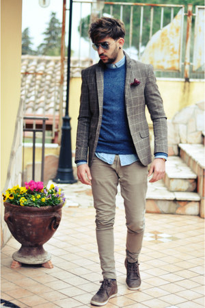 Zara shirt - XAGON MAN jeans - H&M sweater - william blazer