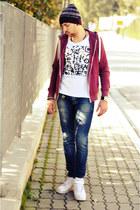 Brooksfield hat - H&M hoodie - Bershka t-shirt