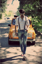 Zara shoes - Swing jeans - Spadari shirt - ray-ban sunglasses