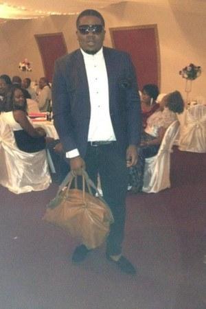 velvet slipper Del Toro shoes - Michael Kors blazer - Y-3 shirt - H&M bag
