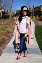 trench Gap coat - jeggings American Eagle jeans - medium tote Burberry bag