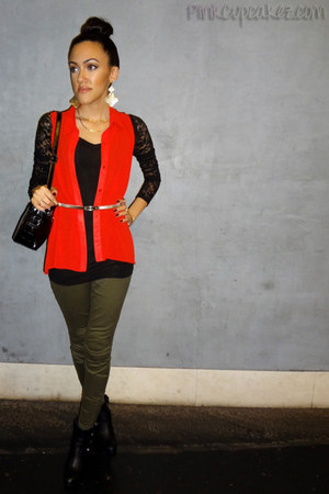 joyce leslie blouse - easy pickins boots - Forever 21 pants