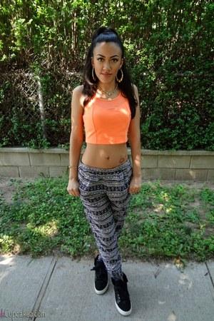 orange Envy U top - easy pickins pants - supra sneakers