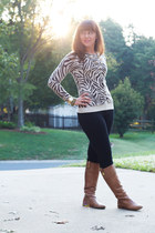 banana republic boots - Old Navy cardigan - Express pants