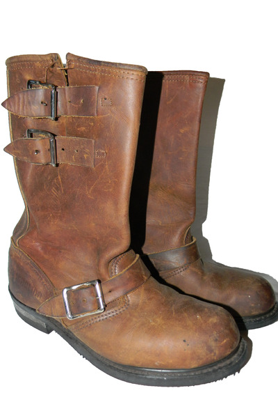 leather vintage boots