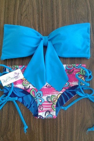 blue Pink Diamond swimwear