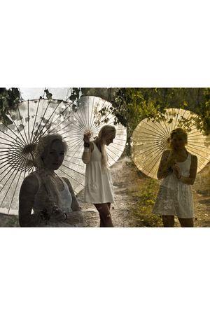 white Zara dress - beige China accessories