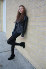 Black-michael-kors-jacket-nude-american-apparel-shirt