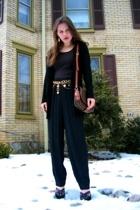 Volunteers of America pants - Miss Erika top - Gap sweater - Louis Vuitton purse