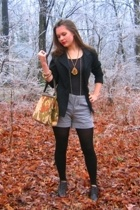 Salvation Army blazer - Given shorts - Dollar Tree tights - rummage sale shoes -